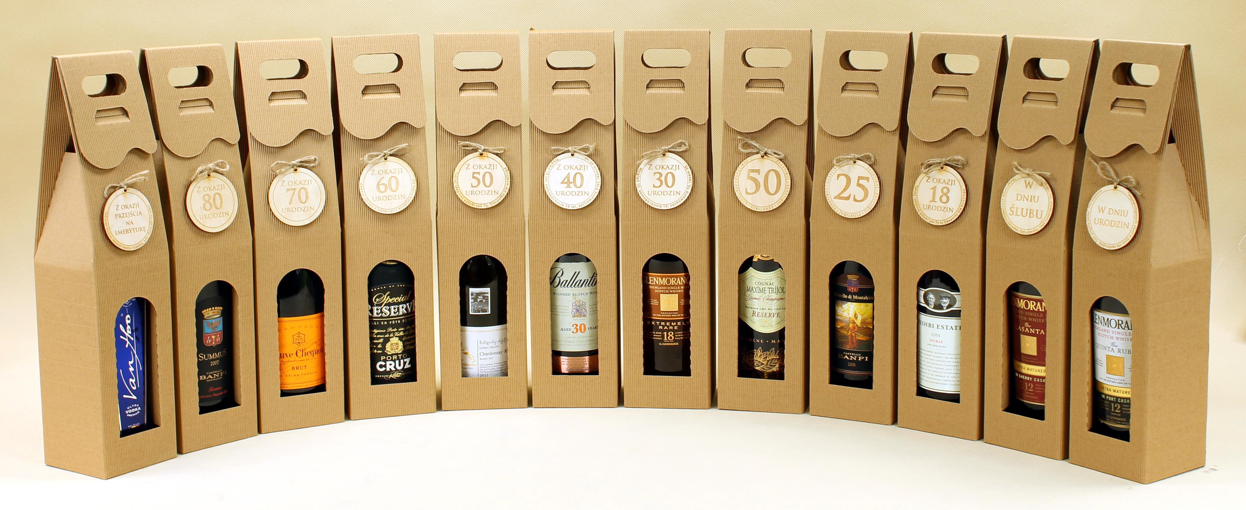 pudełka na wino i alkohole