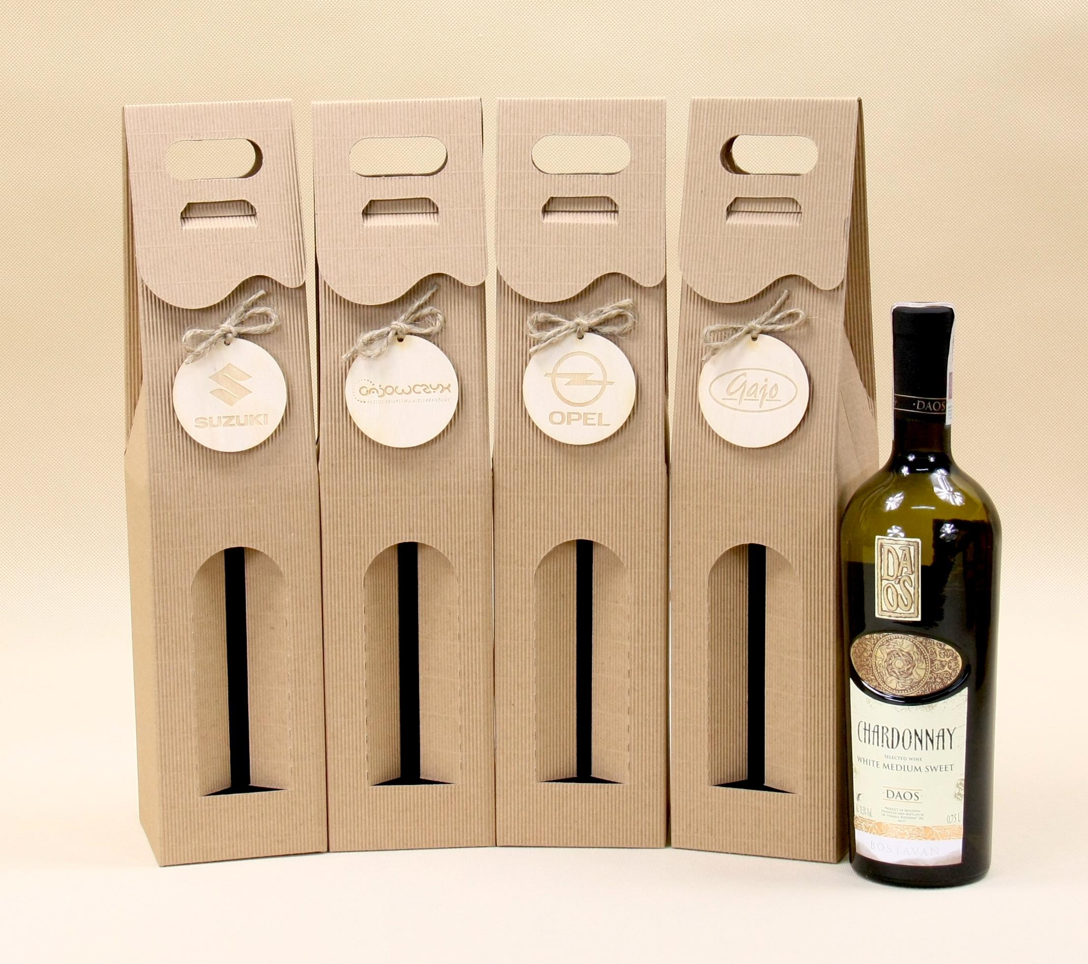 pudełko na wino z okienkiem
