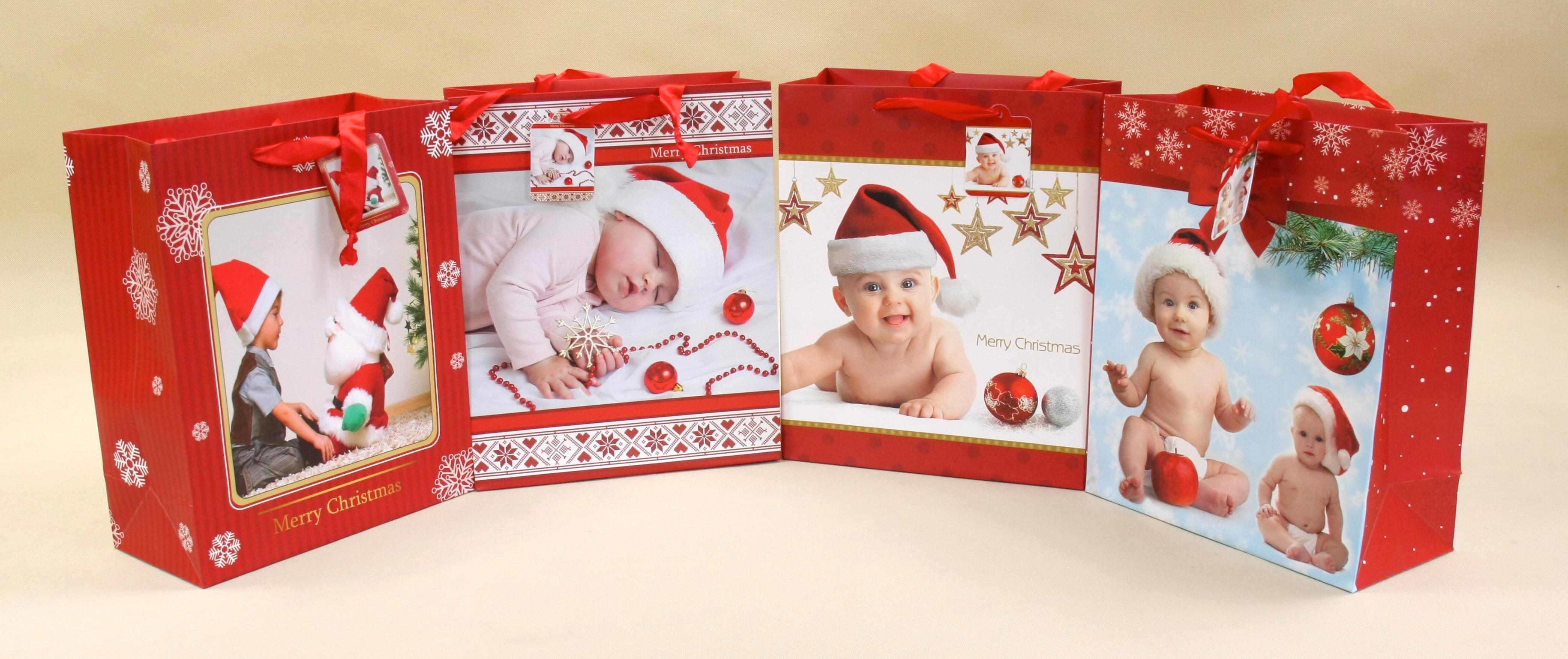 Świąteczna torebka ozdobna na prezenty
