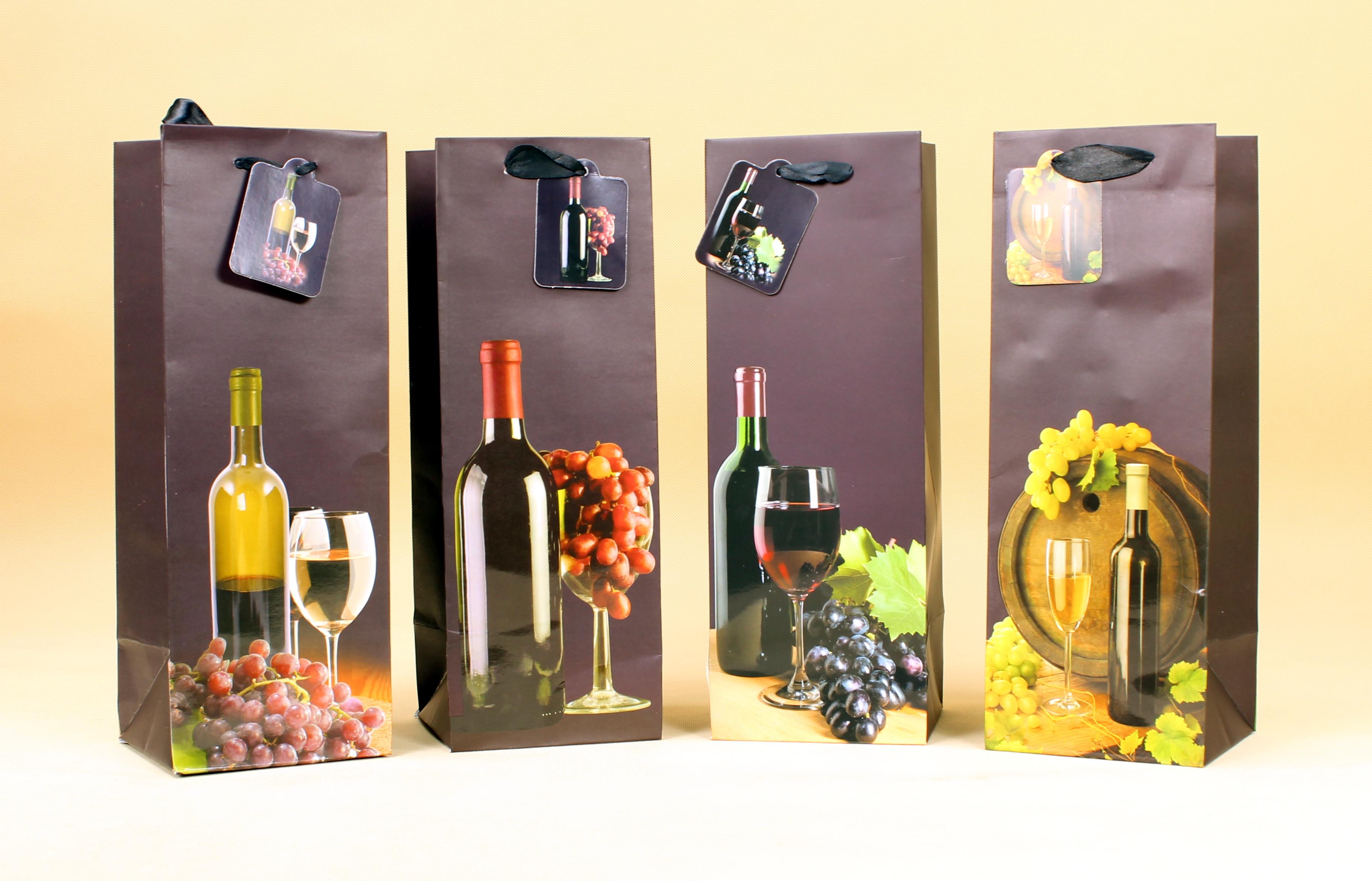 torby ozdobne na wino