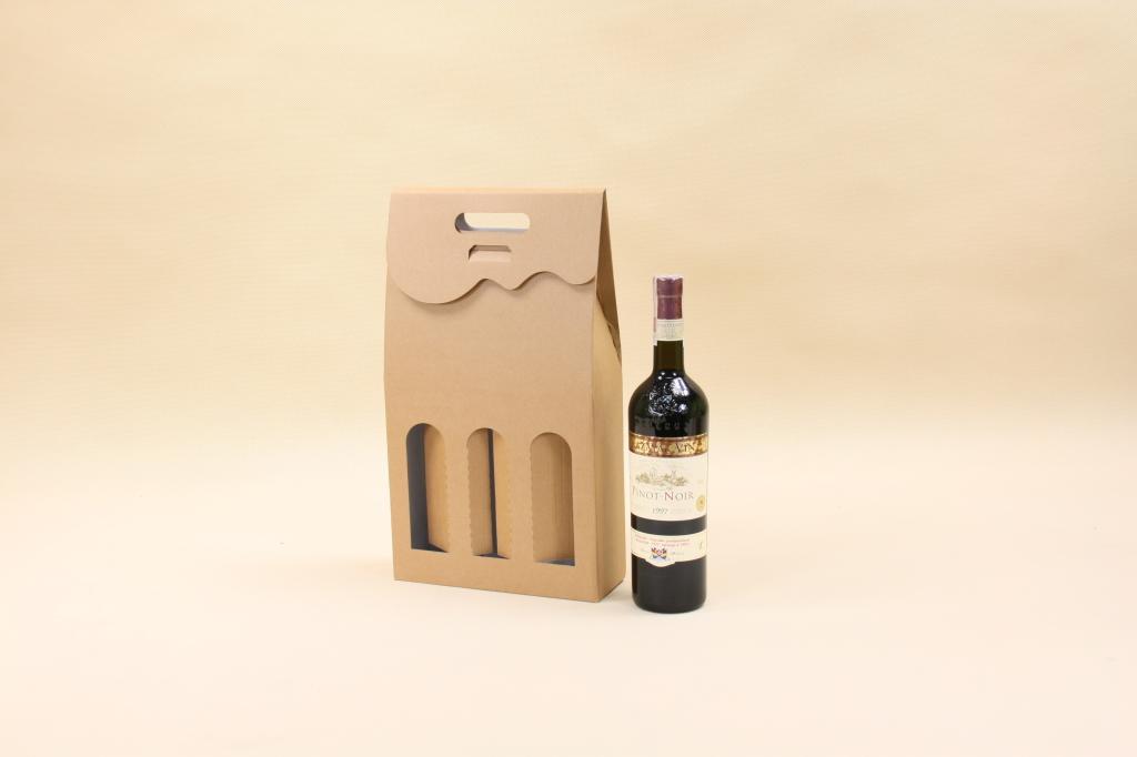 karton na 3 butelki wina