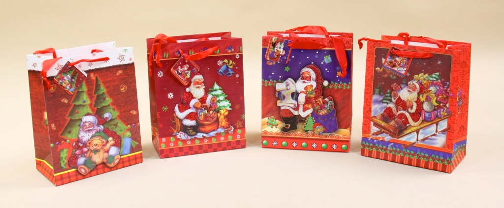 Torebki na świąteczne prezenty