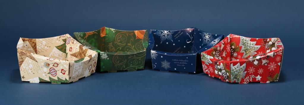 Ozdobny kosz prezentowy Boże Narodzenie 6